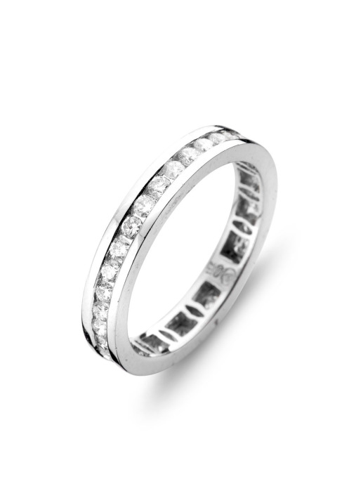 Diamond Point Witgouden ring, 1.00 ct diamant, Alliance