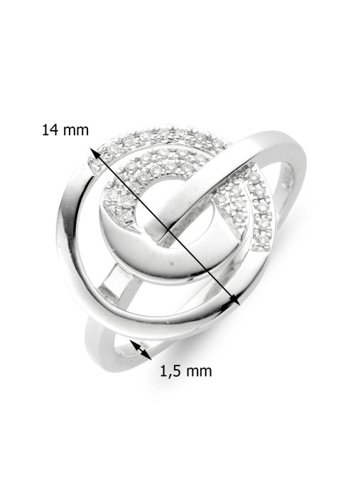 Diamond Point Alliance ring in 18 karat white gold