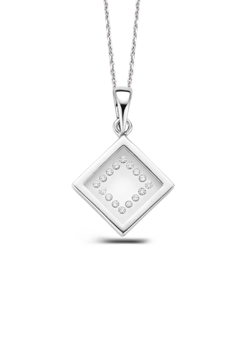 Diamond Point Alliance pendant in 18 karat white gold