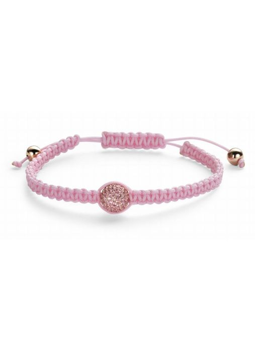 Diamond Point Macramé Armband in 14K Roségold