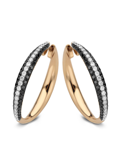 Diamond Point Black Ohrringe in 14K Roségold
