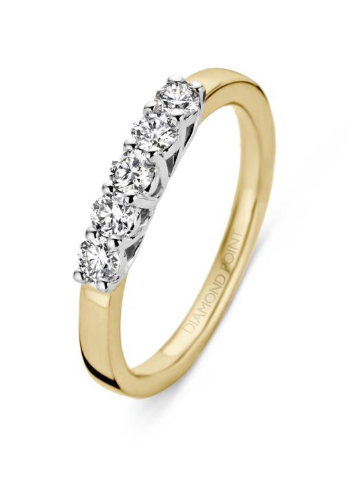 Diamond Point Gouden ring, 0.15 ct diamant, Alliance