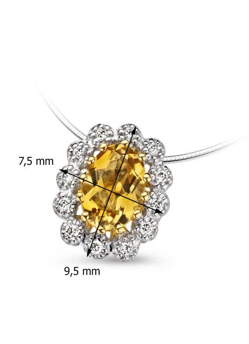Diamond Point Colors pendant in 14 karat yellow gold