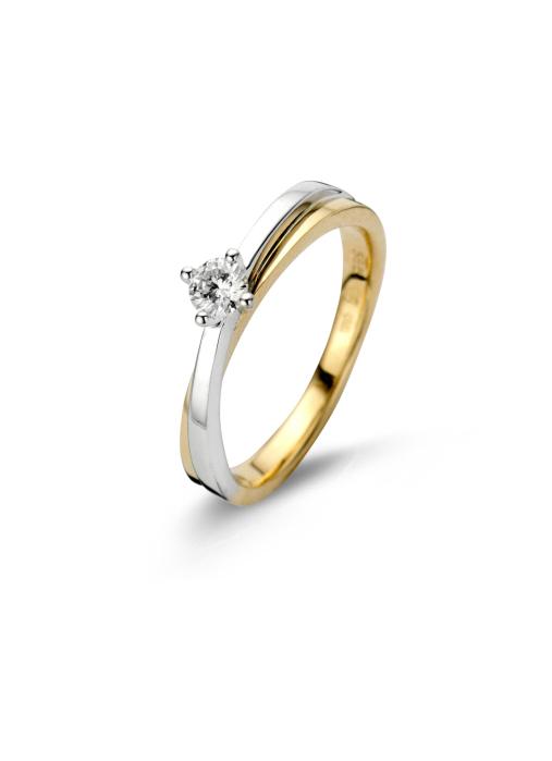 Diamond Point Gouden ring, 0.20 ct diamant, Solitair