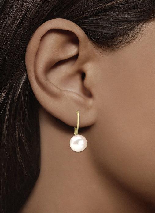 Diamond Point Perlen Ohrringe