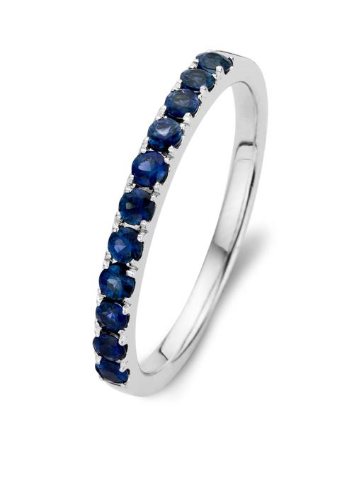 Diamond Point Colors ring in 14 karat white gold