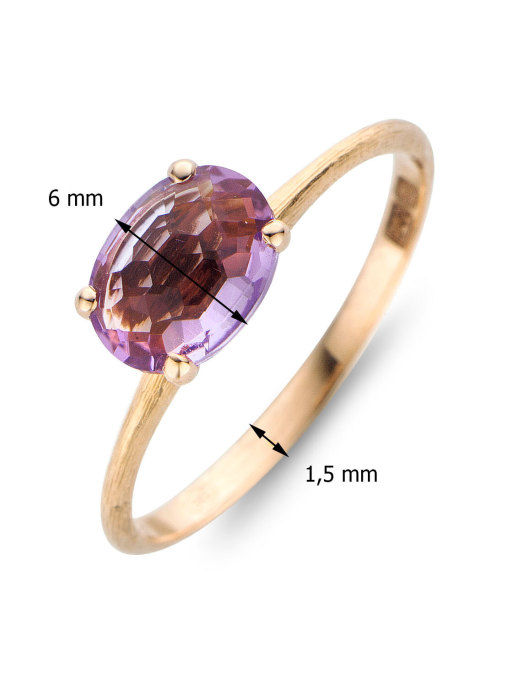 Diamond Point Colors ring in 14 karat rose gold