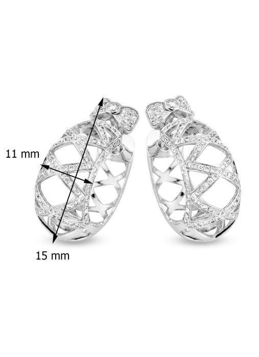 Diamond Point Witgouden oorsieraden, 1.83 ct diamant, Prestige