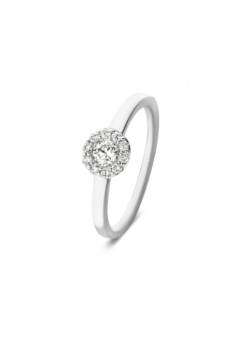 Diamond Point Witgouden ring, 0.38 ct diamant, Solitair