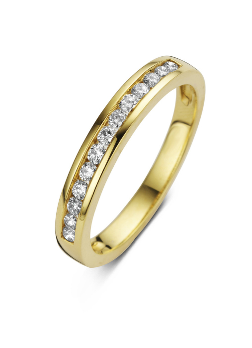 Diamond Point Geelgouden ring, 0.30 ct diamant, Alliance