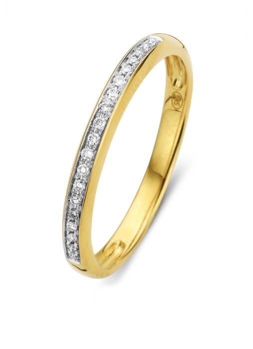 Diamond Point Geelgouden ring, 0.08 ct diamant, Alliance