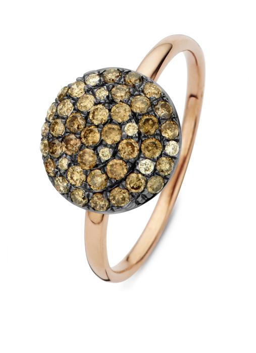 Diamond Point Roségouden ring, 0.55 ct diamant, Brown