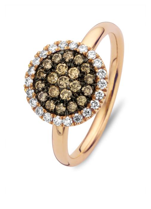 Diamond Point Roségouden ring, 0.50 ct diamant, Brown
