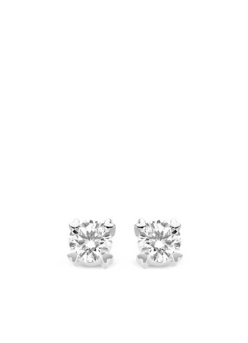 Diamond Point Witgouden oorsieraden, 0.60 ct diamant, Hearts & Arrows