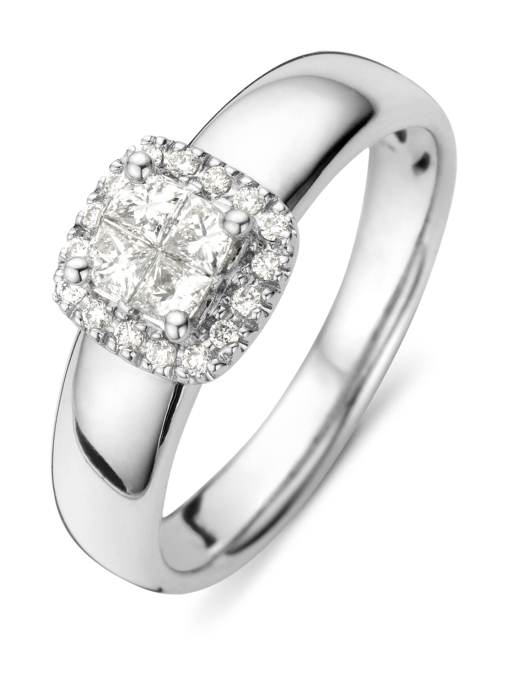 Diamond Point Witgouden ring, 0.35 ct diamant, Fourever