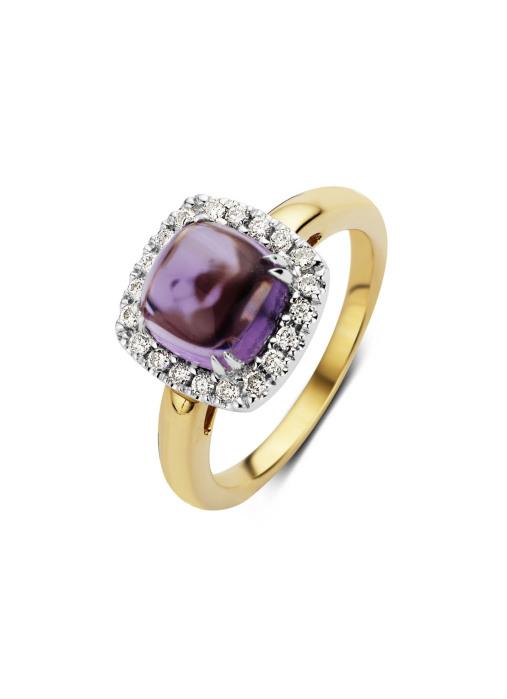 Diamond Point Colors Ring in 14 karaat geel- en witgoud