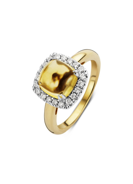 Diamond Point Gouden ring, 2.50 ct citrien, Colors