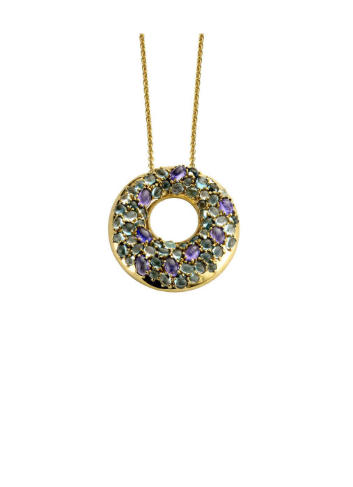 Diamond Point Colors pendant in 14 karat yellow gold