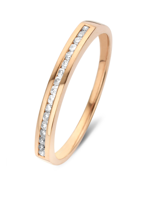 Diamond Point Alliance Ring in 14K Roségold