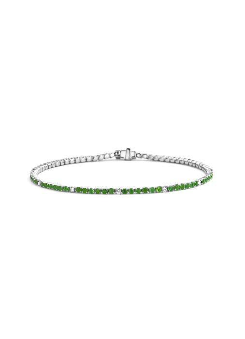 Diamond Point Colors bracelet in 18 karat white gold