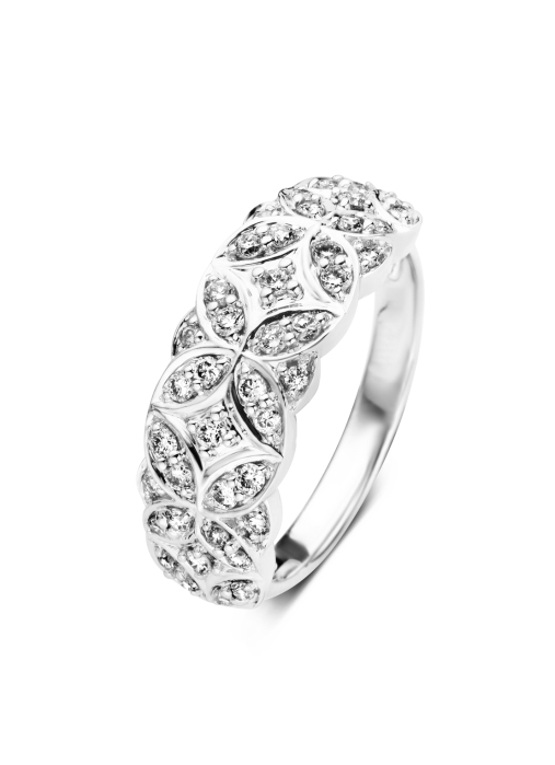 Diamond Point Witgouden ring, 0.50 ct diamant, Since 1904