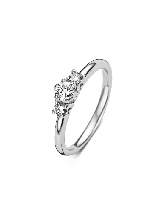 Diamond Point Alliance ring in 14 karat white gold