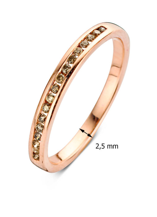 Diamond Point Rose gold eternity ring