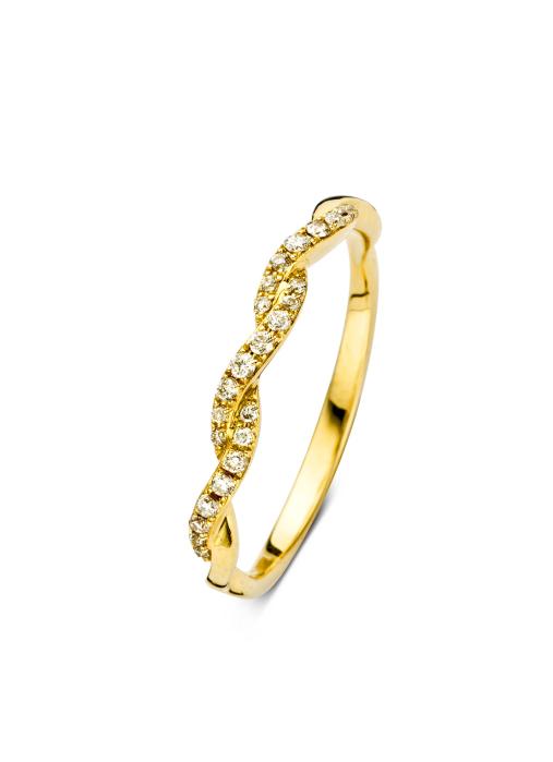 Diamond Point Geelgouden ring, 0.11 ct diamant, Alliance