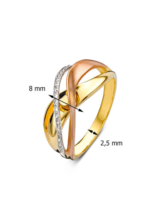 Diamond Point Alliance Ring in 14K Weiß-, Gelb-, und Roségold