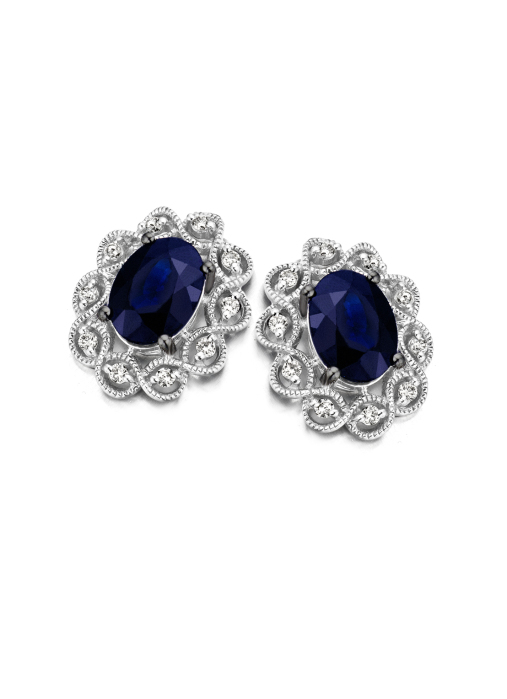 Diamond Point Vintage earrings