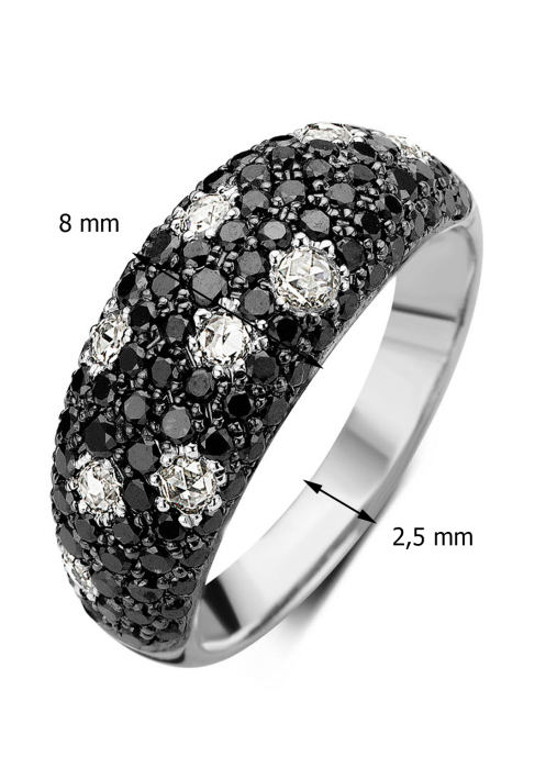 Diamond Point Witgouden ring 0.30 ct diamant Black