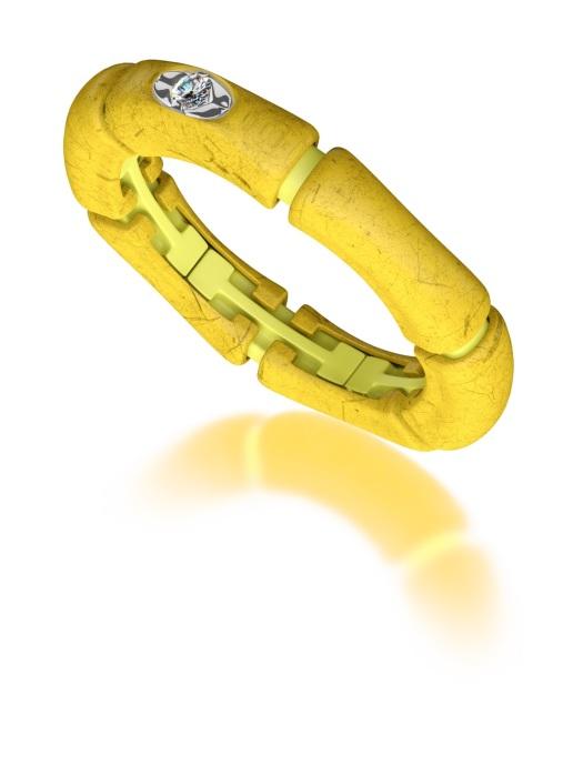 Diamond Point Yellow Rising Sun ring