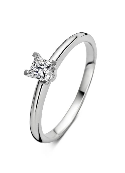 Diamond Point Witgouden ring 0.23 ct diamant Solitair