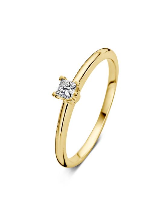 Diamond Point Geelgouden ring 0.14 ct diamant Solitair