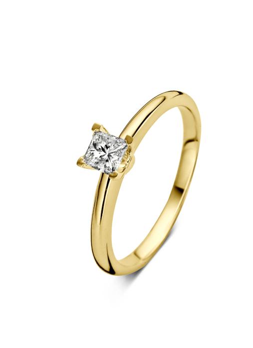 Diamond Point Geelgouden ring 0.30 ct diamant Solitair