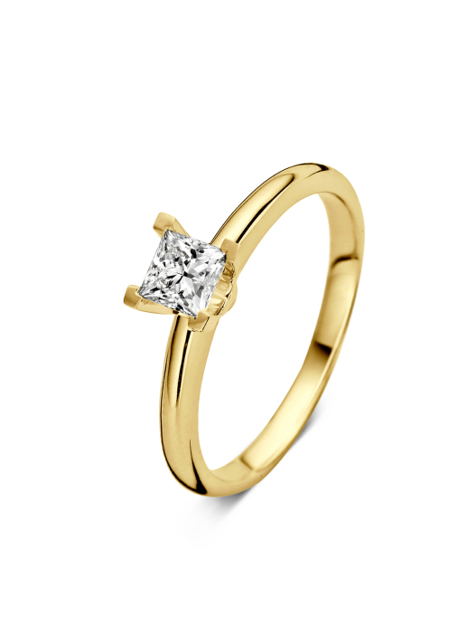 Diamond Point Geelgouden ring 0.40 ct diamant Solitair