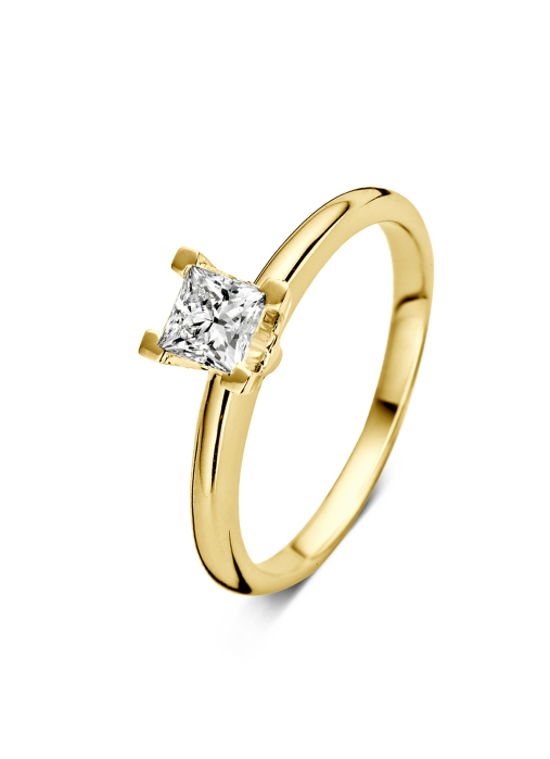 Diamond Point Geelgouden ring, 0.50 ct diamant, Solitair