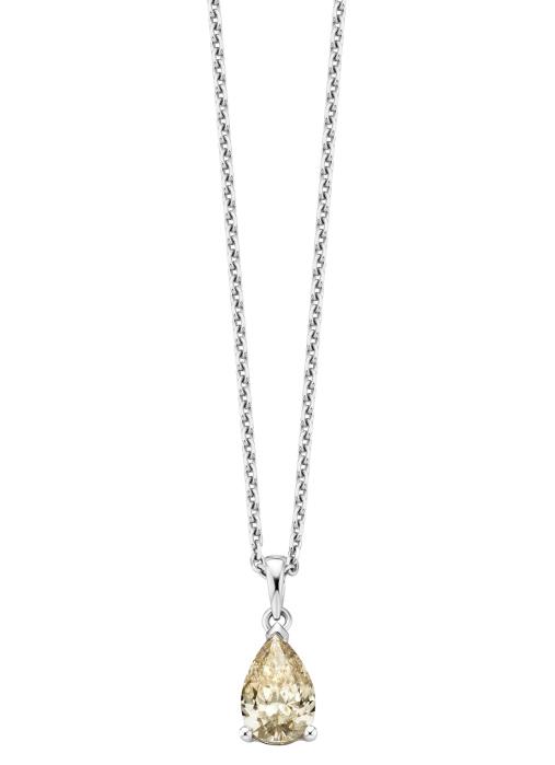 Diamond Point Solitair pendant in 18 karat white gold