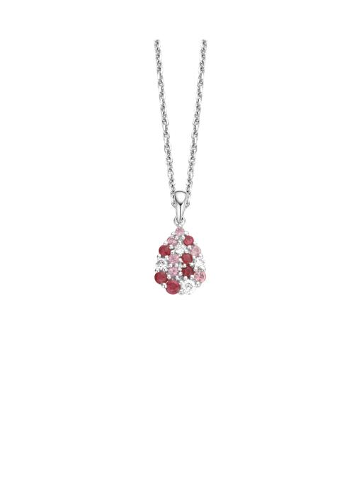 Diamond Point Colors pendant in 14 karat white gold