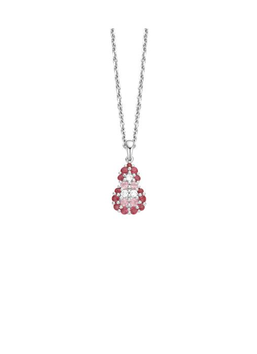 Diamond Point Witgouden hanger, 0.23 ct roze saffier, Colors