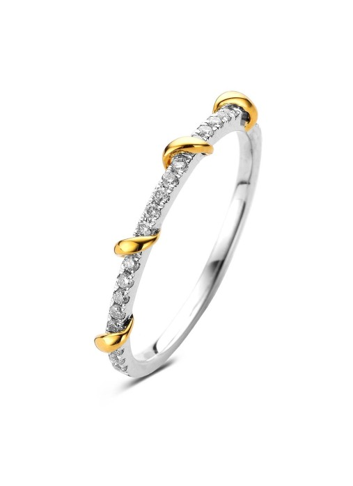 Diamond Point Gouden ring, 0.16 ct diamant, Alliance