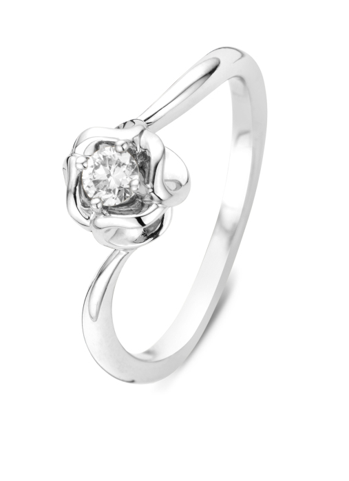 Diamond Point Witgouden ring, 0.19 ct diamant, Solitair