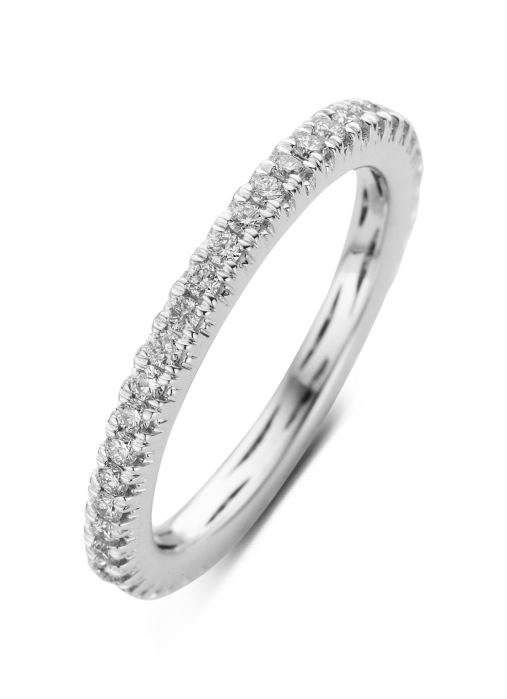 Diamond Point Ensemble ring in 14 karat white gold