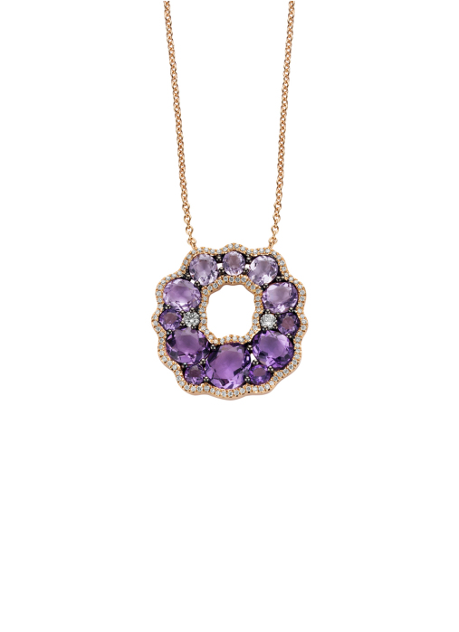Diamond Point Colors necklace in 18 karat rose gold