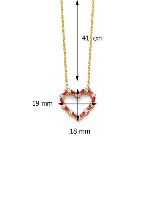 Diamond Point Geelgouden collier, 0.75 ct robijn, Colors