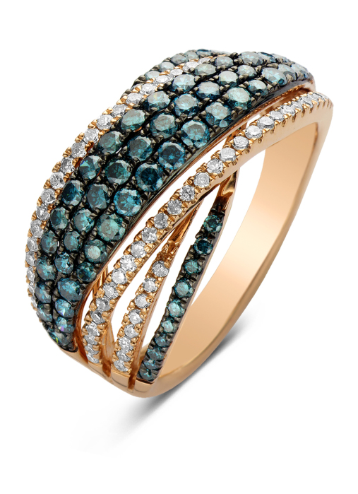 Diamond Point Caviar Ring in 14K Roségold