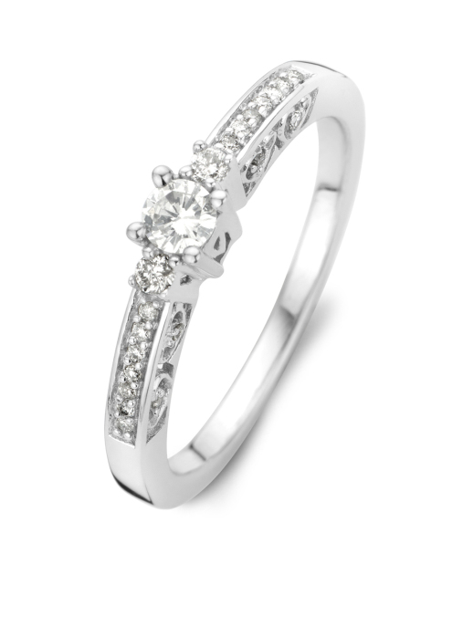 Diamond Point Witgouden ring, 0.28 ct diamant, Solitair