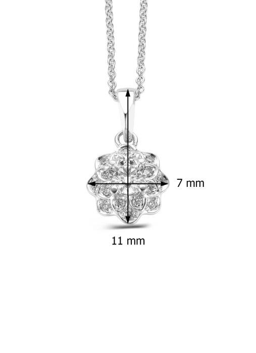 Diamond Point Hearts & arrows pendant in 18 karat white gold