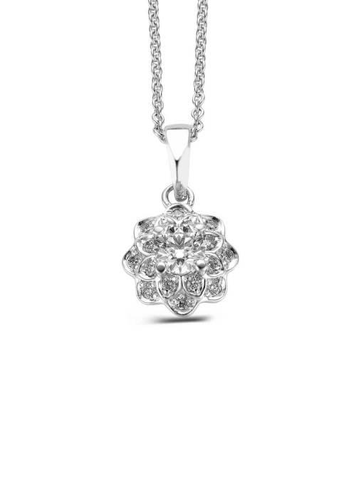 Diamond Point Witgouden hanger, 0.75 ct diamant, Hearts & Arrows