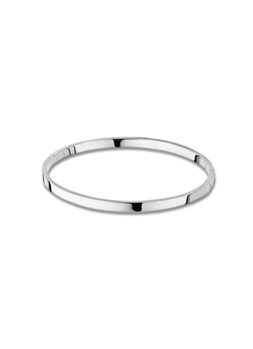 Diamond Point Silver bangle bracelet (M)
